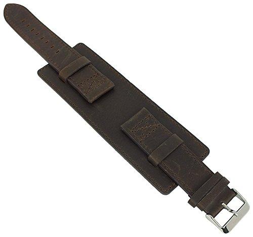 s.Oliver Unterlagenband Uhrenarmband Leder Band 22mm braun SO-3048-LQ