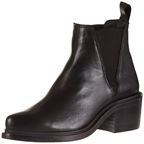Shoe Biz Damen Chelsea Boot, Schwarz (Velvet Black), 39 EU (Toe Boot Pointy)