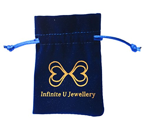 """Infinite U """"Forever"""" Zircone Cubique Argent 925 Bague Réglable pour Femme Taille de Bague 49 à 54 Blanc"""