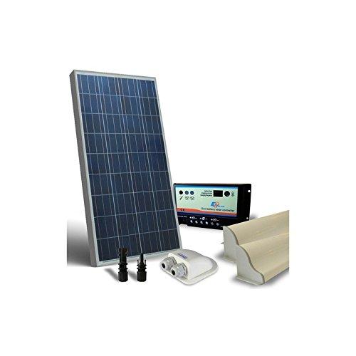 """Base-Solar caravanas 80W 12V panel fotovoltaico""""Caravanas base son útiles, per l 'alimentación solar las roulotte, y será en su viaje a través de l' energia solar. Con un sistema-es posible, en cualquier lugar sin miedo y potencia, rematado co..."""