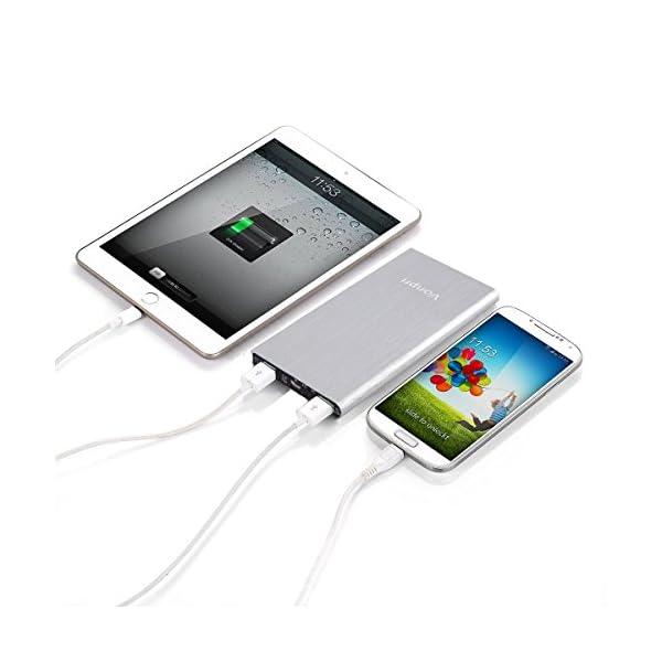 Vonpri 10000mah Caricabatterie Portatile Power Bank Batteria Esterna per iPhone7 iPad, Samsung Smartphones e Tablets… 3 spesavip