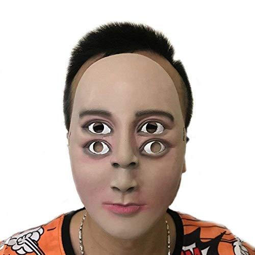 Xiao-masken Gruselig Scary Halloween Cosplay Kostüm Maske Für Erwachsene Party Dekoration Requisiten Lustiger Mann Maske Horror Latex Grimasse Maske Haube (Die Familie, Halloween-traditionen Lustige)