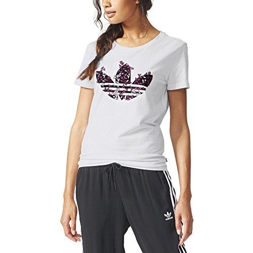 Adidas Trefoil Vines Maglia per Donna, Bianco, 38