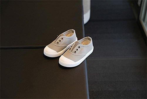 ALUK- Canvas Kinderschuhe Kleine weiße Schuhe Baby Schuhe Studenten Schuhe ( farbe : Gray , größe : 27 ) Gray