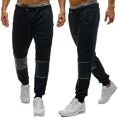 SANFASHION Herren Jogg Hose Freizeithose Sporthose Jogginghose Jogger Trainingshose Fitness Sport Work Trouser Long Pants S-2XL