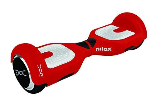 Nilox Hoverboard, Unisex Adulto, Rojo/Blanco, 25.7 x 28 x 65.5