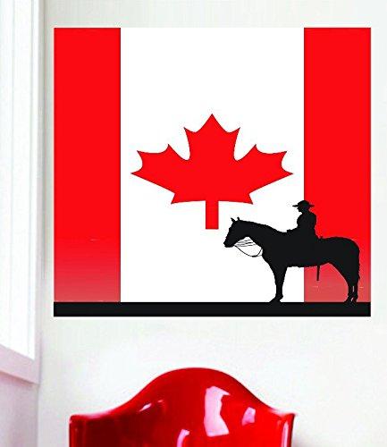 Design mit Vinyl Rad 6533Cowboy Silhouette in Kanadische Flagge Kanada Maple Leaf Vinyl Wand Aufkleber 20