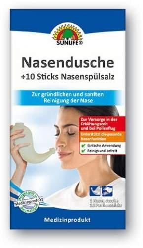 Nasendusche- Set SUNLIFE® Nasendusche + 70 Sticks Nasenspülsalz