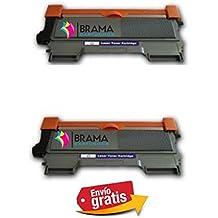 Bramacartuchos - 2 x Tóners compatibles con Brother Tn-2220/2010- NON OEM(2600 copias) HL2250DN, HL2270DW, MFC7360, MFC7360N, MFC7460dn, MFC7460, MFC7860dw, MFC7860