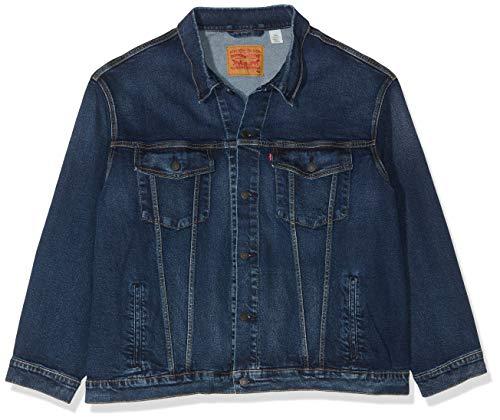 Big Tall Jeans Jacken (Levi's Herren Big Trucker Jeansjacke, Blau (Colusa 2.0 0021), XXXX-Large)