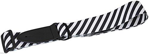 Schulter Zebra (Schwarz und Weiß Deluxe Premium Qualität Soft Touch Wild Zebra Streifen Muster Afrika Jungle Animal Akustische Elektrische Bassgitarre Verstellbare Schulter Gitarrengurt)