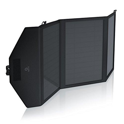 CSL - Solarladegerät Smart Charge | Solarladegerät | Solar Outdoor Charger | Hohe Effizienz / 15W | hochwertige Monokristallin-Zellen | Energieeffizientes / umweltschonendes Laden | inkl. Zusatz-Staufach