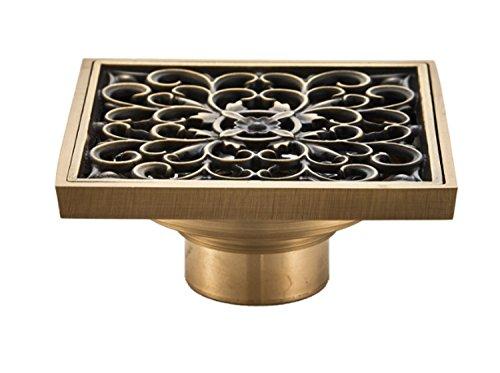 Drain-hardware (Tochange Badezimmer Bodenablauf Bad Retro Platz 10cm Antik Kupfer Deo Bodenablauf Messing Nasszelle Dusche Drain Drainage Badezimmer Hardware)