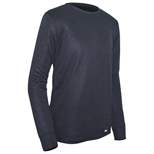 Double Layer Tee Top (PolarMax Unisex Jugend-doppelter Boden Layer Long Sleeve Crew, Jungen, Polarmax Double Base Layer Crew Top - Yth's, schwarz)