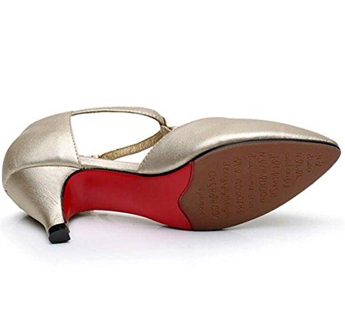 Zapatos De Mujer Exterior De Cuero Latina Taogo Suela De Goma De Baile Bombas Sandalias Talla 36 A 40 Plata
