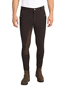 Ultrasport Men's Riding Breeches with Alos Full Seat - Brown/Brown, Size 52 (34 Inches Waist/32 Inches Length)