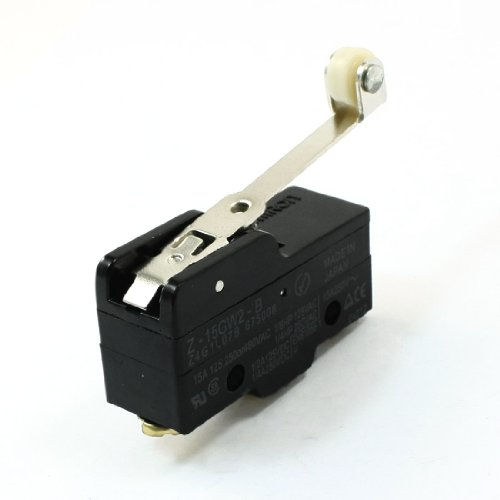 sourcing map AC 125V/250V 15A Hinge Rollenhebel SPDT Mikro Endschalter Mikroschalter - Mikroschalter Endschalter