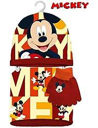 Kids Mickey Set Braga Polar+Gorro+guantes, Ensemble Bonnet, écharpe et gant 5fb5f271143