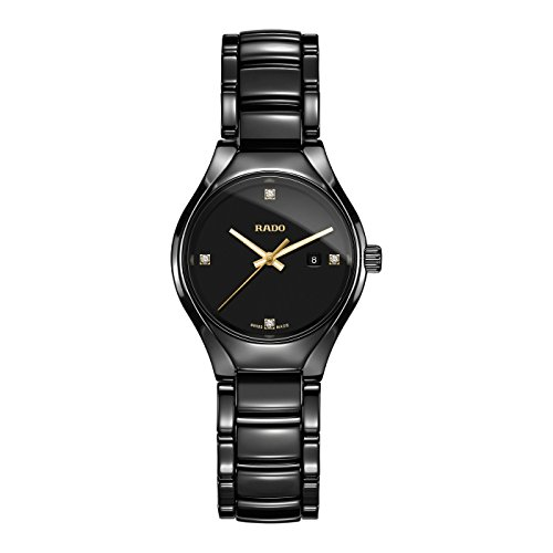 Rado-Womens-TRUE-30mm-Black-Ceramic-Band-Case-S-Sapphire-Quartz-Analog-Watch-R27059712