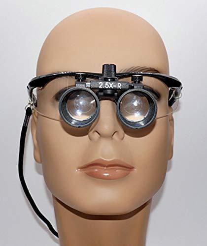 Medizinisch 2.5X Lupe,Lupenbrille Kopfband Lupen, Chirurgie,Gynäkologie, Hobby, Elektriker,Juweliere,Nähen, Handwerk,Kosmetik Und Ältere Menschen