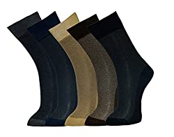 Vinenzia Mens Socks (Pack Of 5) (Multi-Coloured_Free Size)