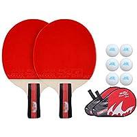 Xianw Equipo De Tenis De Mesa, Raquetas De Tenis De Mesa Profesional, Paletas De Ping Pong con Mango Largo, Raqueta De Ping Pong Familiar,A