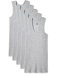 Dollar Bigboss Men's Cotton Vest (Pack Of 5) (8902889480732_MDVE-02-BB-DERBY-GREY MELANGE_85_Grey Melange)