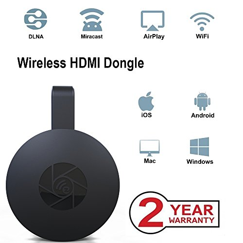 Wireless WiFi Display Dongle, tragbarer Display-Receiver, 1080P HDMI Miracast Dongle Digital AV zu HDMI-Anschluss für Android / Samsung / Projektor / TV / Mac / Windows (Digital-tv-dongle)