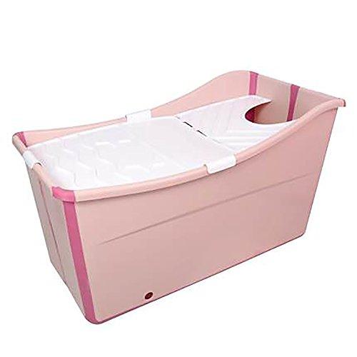 HTZ Collapsible Bathtub Kids Shower Bathtub Baby Bathtub Adult Bathtub Extra Large Baby Bathtub Size Options Blue/Pink + (Color : PINK, Size : L)