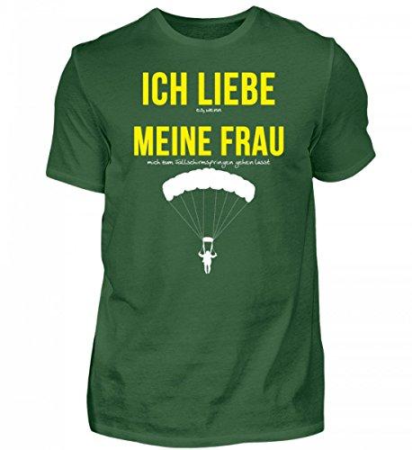 Liebe Bungee (PlimPlom Hochwertiges Herren Shirt - Ich Liebe Meine Frau Spruch Fallschirmspringen - Falschirmspringer Spruch Tshirt)