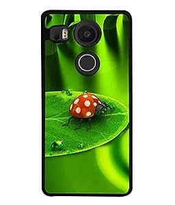 FUSON Designer Back Case Cover for LG Nexus 5X :: LG Google Nexus 5X New (Butterfly Arts Shining Green Red Natural Art)