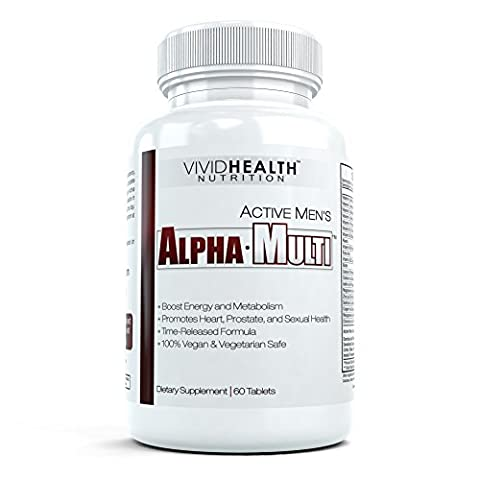 Active Men's Alpha-Multi - Profesional Strength Multivitamin for Active Male