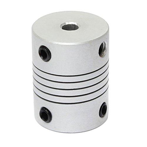 MagiDeal 5x5x25mm CNC Schritt Motor Wellen Kupplungen Flexible Kupplung Motorstecker für 3D-Printer Kleine Motor Kupplung