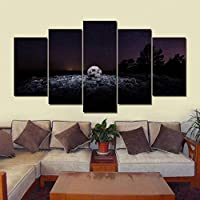 VCTQR 5 consecutive paintingsArtwork poster HD print home decoration 5 pieces wall art module picture all saints day canvas painting