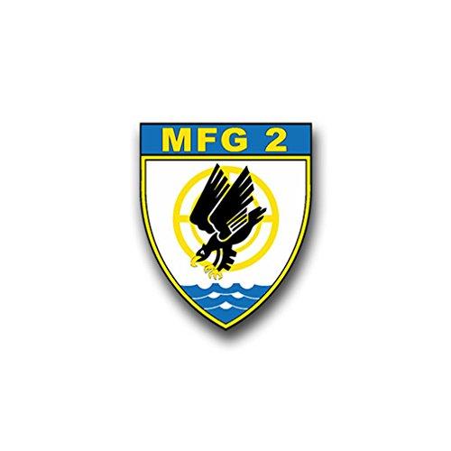 Aufkleber/Sticker MFG 2 Marinefliegergeschwader Marine Wappen Emblem 6x7cm A864 -