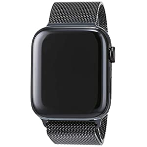 Apple Watch Series 4 (GPS + Cellular) con caja de 44 mm de acero inoxidable y pulsera Milanese Loop, ambas en negro espacial
