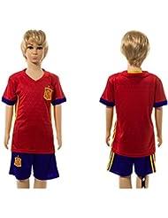 Top Venta de España de bricolaje Nombre y números Casa para niños Kid jóvenes camiseta de fútbol juegos en rojo, Infantil, rojo, medium