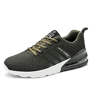 WateLves Herren Laufschuhe Fitness straßenlaufschuhe Freizeitschuhe Sneaker Sportschuhe atmungsaktiv Mode(Grün,43)