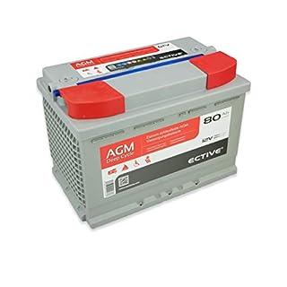 ECTIVE 80Ah 12V AGM Batterie EDC-Serie VRLA Versorgungsbatterie in 7 Varianten: 65Ah - 230 Ah (wartungsfrei)