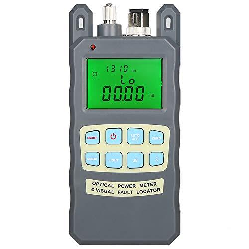 DAXGD Medidor de potencia de fibra óptica -70 a + 10dBm, y 1mw 5km Probador de cable de fibra óptica Localizador visual de fallas