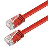 Ligawo 1014137.0 Patchkabel Netzwerkkabel Cat6 Flexibel Slim Design Flachkabel (10m) rot