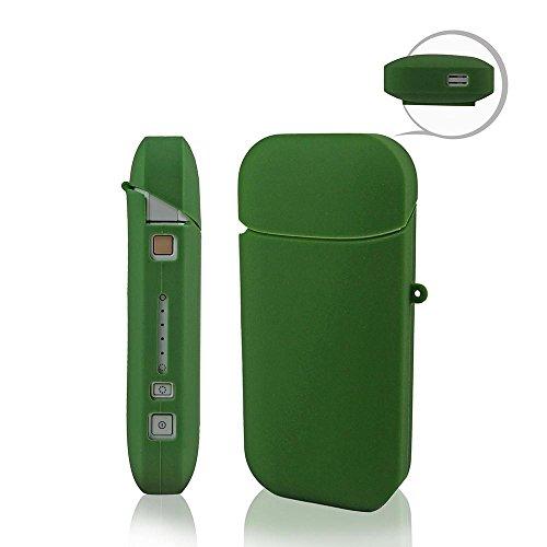 iQOS Caso sigaretta elettronica shell conchiglia titolare Tasca Monojoy portatile Gel di silice morbido e-cig scatola Borsa marsupio conchiglia antigraffio cassa (verde)