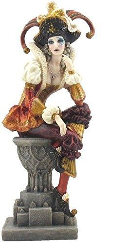 264-cm-sitzend-weiblich-jester-deko-figur-statue-multicolor