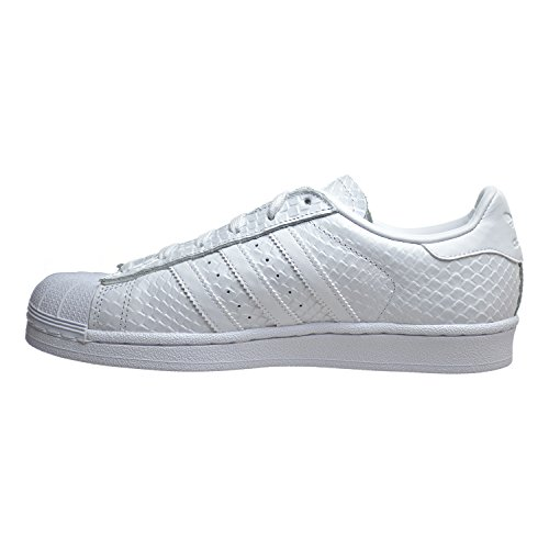 Adidas Womens Superstar S76148 Leather Trainers Blanc