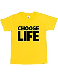 Choose Life Wham Retro 80s Fancy Dress Kids Boy Girl Cotton Short Sleeve T-Shirt Various Colours Available - Sizes 1 Year Old - 14 Year Old