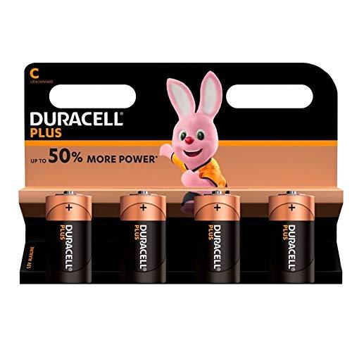 Duracell Batterie Plus Baby C (LR14) 1,5V im 4er Pack