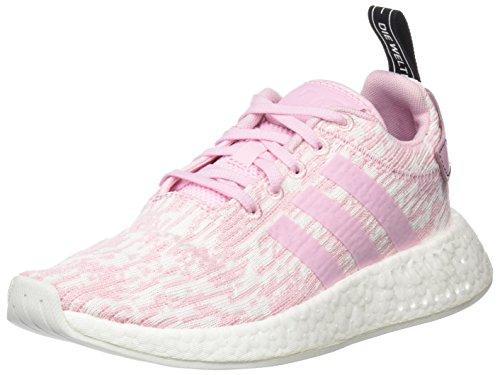 adidas NMD_R2 W, Zapatillas de Deporte para Mujer, Rosa Rosmar/Negbas, 43 1/3 EU