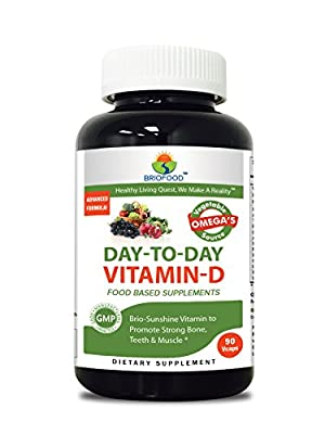 Briofood, DAY-TO-DAY Food Based Vitamin D (90 Vcaps) with Vegetable Source Omegas by Briofood