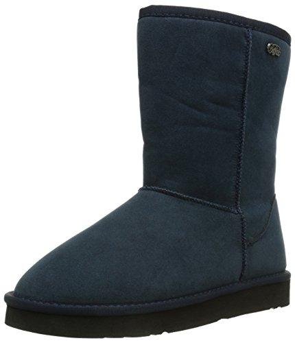 Buffalo 238892 Sy Suede, Bottes de neige de hauteur moyenne, doublure chaude femme Bleu - Blau (NAVY 10)