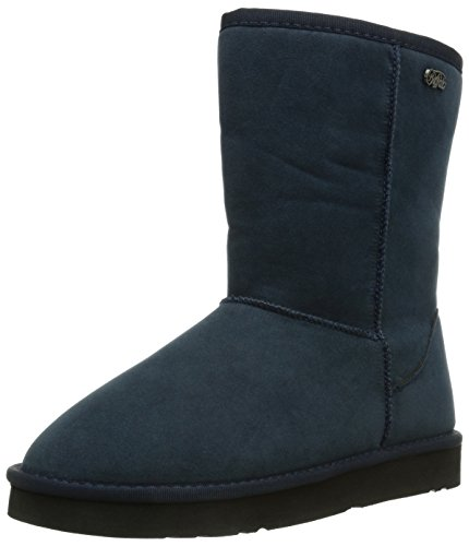 Buffalo 238892 SY, Stivali da neve con caldo rivestimento interno, in pelle scamosciata Donna, Blu (Blau (NAVY 10)), 37 (4.5 uk)